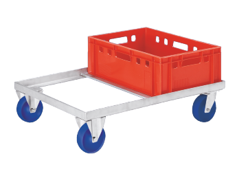 Double dolly with 2 block-​ and 2 steering Rolers