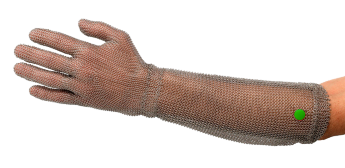 WILCO-​metal mesh glove, DETECTABLE, with 20 cm cuff