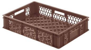 Bread crate H130, perforated sides/bottom