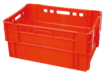 Stacking and nesting crate E3 EVO, perforated sides/bottom