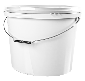 Oval bucket 18 l, with lid