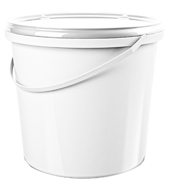 round bucket 10 l, with lid