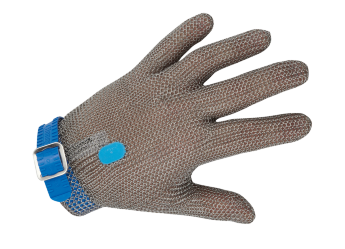 CHAINEX Metal mesh glove with removable plastic strap , whithout cuff