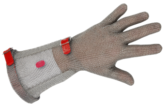 CHAINEX Metal mesh glove with removable plastic strap, with 20 cm cuff