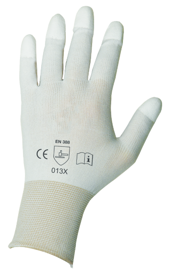 NYLON gloves with PU-​coating