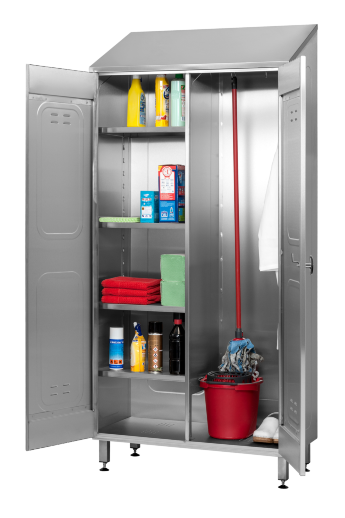 Cupboard for cleaning materials