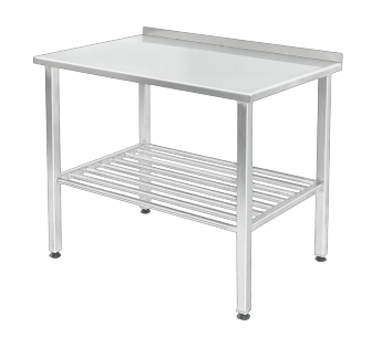 Work table made of stainless steel