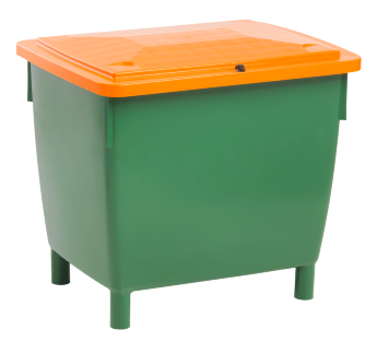 Large container 400 l, hinged lid
