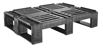 CR2 ECO Halbpallet, 3 runners