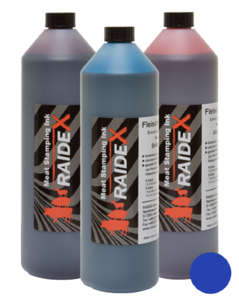 RAIDEX Meat stamping ink blue, 1 litre