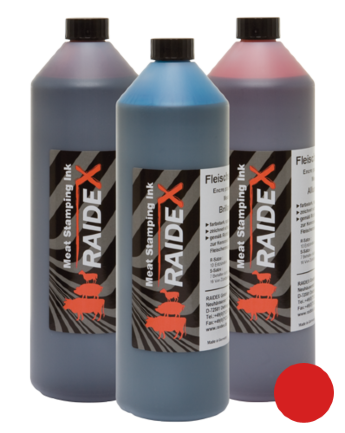 RAIDEX Meat stamping ink red, 1 litre