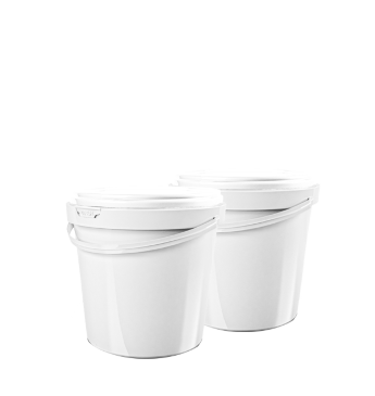 round bucket 1 l, with lid